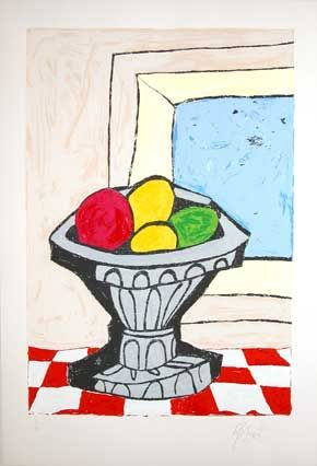 """BIG STILL LIFE"": Limited Edition, Signed Silkscreen Print. Kurt Vonnegut, Jr."