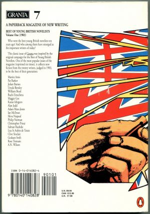 GRANTA: Best of Young British Novelists, Issue 7.