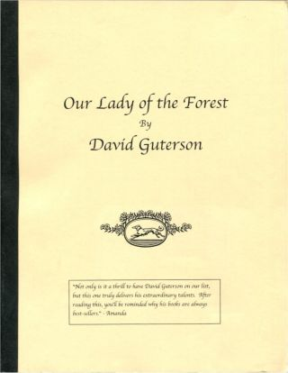 OUR LADY OF THE FOREST. David Guterson