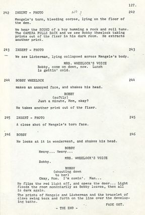 "REVISED SCREENPLAY FOR THE MOVIE ""THE BOYS FROM BRAZIL"": Photocopy in Pressbound Report Covers."