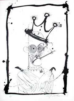 HUNTER IN STRAIGHT JACKET: Limited Edition, Signed Silkscreen Print. Ralph Steadman, Hunter S. Thompson.