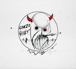 GONZO GUILT: Limited Edition, Signed Silkscreen Print. Ralph Steadman, Hunter S. Thompson.