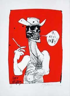 LET'S PARTY: Limited Edition, Signed Silkscreen Print. Ralph Steadman, Hunter S. Thompson.