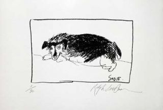 SADIE: Limited Edition, Signed Silkscreen Print. Ralph Steadman