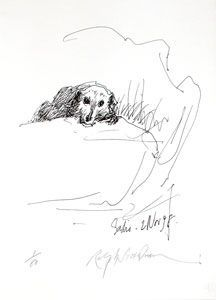 SADIE, 2 NOV. 98: Limited Edition, Signed Silkscreen Print. Ralph Steadman.
