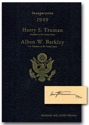OFFICIAL PROGRAM COMMEMORATING THE INAUGURATION OF HARRY S. TRUMAN AND ALBEN W. BARKLEY: January...
