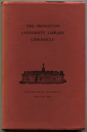 "THOUGHTBOOK OF FRANCIS SCOTT KEY FITZGERALD: In ""The Princeton University Library Chronicle,""..."