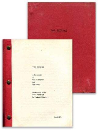 THE DEFENCE: A Screenplay ... Based on the novel by Vladimir Nabokov. Vladimir Nabokov, Guy...