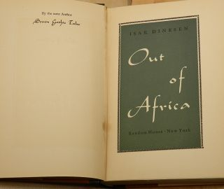 OUT OF AFRICA.