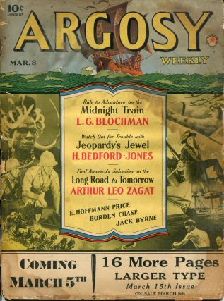 MIDNIGHT TRAIN: in ARGOSY WEEKLY- Volume 306, Number 2. Blochman L. G