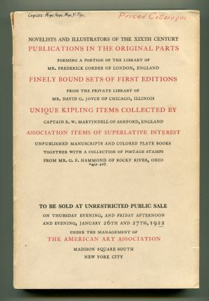 ILLUSTRATED [AUCTION] CATALOGUE OF A NOTABLE COLLECTION OF FIRST EDITIONS, COSTUME AND COLORED...