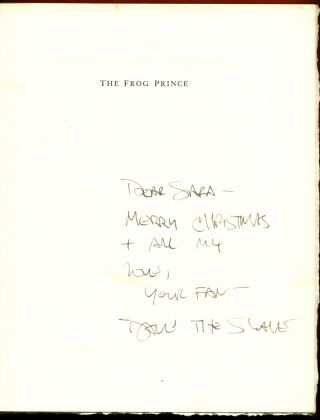 THE FROG PRINCE: A Play. David Mamet, illustrations, Edward Koren