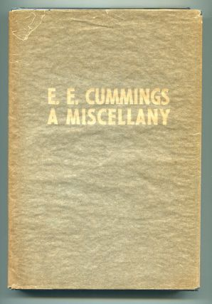 A MISCELLANY. E. E. Cummings, George J. Firmage