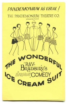 THE WONDERFUL ICE CREAM SUIT: Announcement for the 1965 Coronet Theater Production. Ray Bradbury.