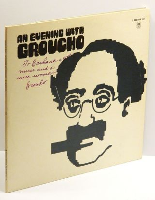 AN EVENING WITH GROUCHO (2 Record Set): Inscribed to his nurse. Groucho Marx.