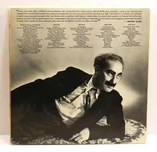 AN EVENING WITH GROUCHO (2 Record Set): Double-Album (LP) Inscribed by Groucho to his nurse.