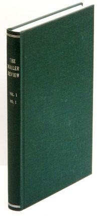 THE MAILER REVIEW: Volume I Number I. Norman Mailer.