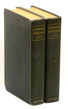 JOHNSONIAN MISCELLANIES; [Two volumes].