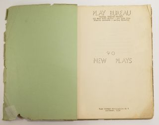 Tower Beyond Tragedy; [Synopsis in 90 NEW PLAYS: Play Bureau Publication No. 4].