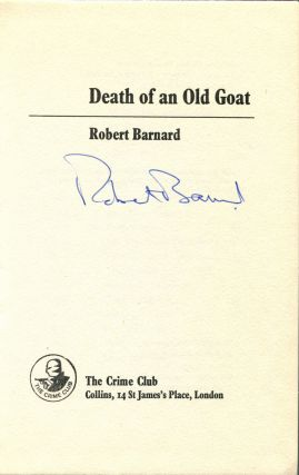 DEATH OF AN OLD GOAT.