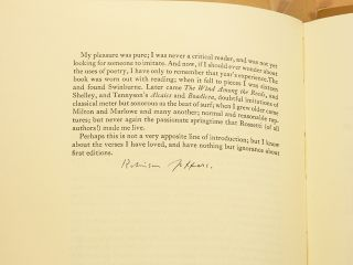 A BIBLIOGRAPHY OF THE WORKS OF ROBINSON JEFFERS; [Rare advance copy, signed by Jeffers, being...