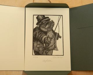 A SUITE OF EIGHT WOOD ENGRAVINGS BASED ON GEORGE ORWELL'S NOVEL: ANIMAL FARM.