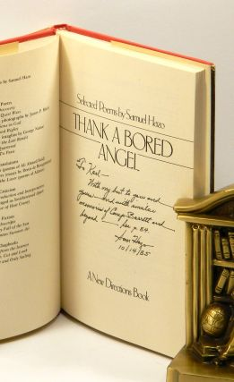 THE SONG OF THE HORSE   THE MARRIAGE DIALOGUES (with ALS)   THE POWER OF LESS (2 volumes)   THANK A BORED ANGEL   THE AUTOBIOGRAPHERS OF EVERYBODY   THIS PART OF THE WORLD: [Seven volumes, all but one signed or inscribed, one with autograph letter signed laid in].