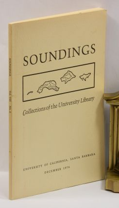 SOUNDINGS: Journal. William Everson