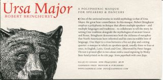 URSA MAJOR: A Polyphonic Masque for Speakers and Dancers. Robert Bringhurst