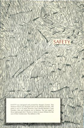 SAFETY. Stephen Rodefer, Johanna Drucker