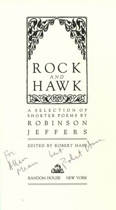 ROCK AND HAWK A SELECTION OF SHORTER POEMS.