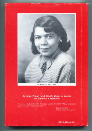 A SIMPLE MATTER OF JUSTICE: The Phyllis Wheatley YWCA Story.