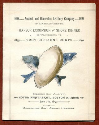 THREE EARLY MENUS FROM RESTAURANTS IN BOSTON: Parker House; Ober's; and Hotel Nantasket.