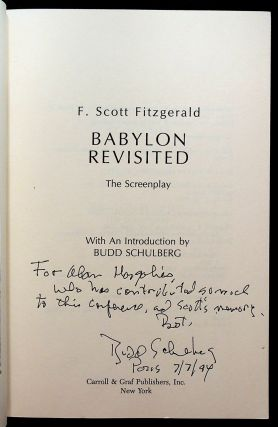 BABYLON REVISITED: The Screenplay.