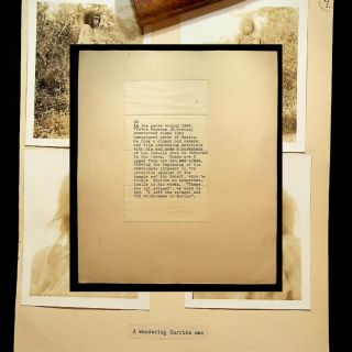 JOURNALIST'S ARCHIVE OF AN INVESTIGATION INTO THE IDENTITY OF B. TRAVEN: Includes photographs of Traven, photographs taken by Traven, and photographs of the spreading of his ashes.