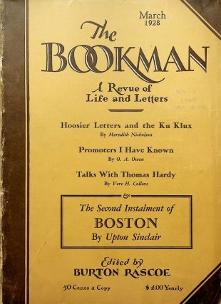 """Stars"": First appearance in THE BOOKMAN: A REVUE OF LIFE AND LETTERS, March 1928. Robinson..."